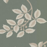 Farrow & Ball Ringwold Green / Gilver Wallpaper - Product code: BP 1654