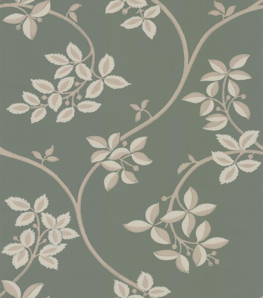 Farrow & Ball Ringwold Green / Gilver Wallpaper - Product code: BP 1654
