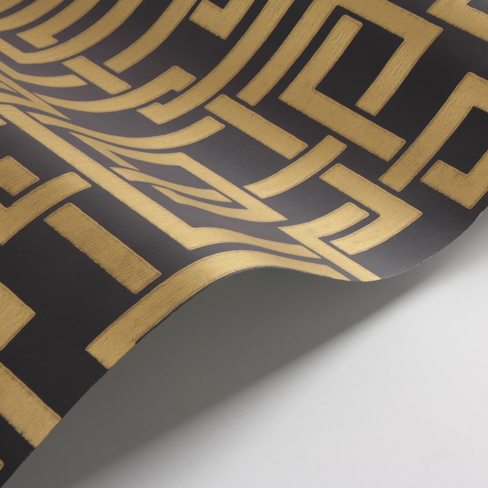 Farrow & Ball Enigma Black / Gold Wallpaper - Product code: BP 5509