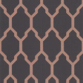 Farrow & Ball Tessella Black / Copper Wallpaper - Product code: BP 3613