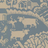 Farrow & Ball Gable Blue / Gilver Wallpaper - Product code: BP 5408