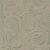Farrow & Ball Tourbillon  Green / Gilver Wallpaper - Product code: BP 4808
