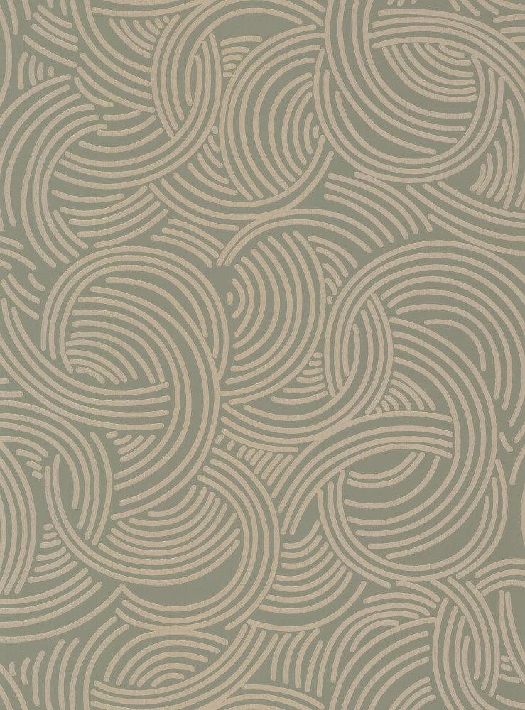Farrow & Ball Tourbillon  Green / Gilver Wallpaper - Product code: BP 4808