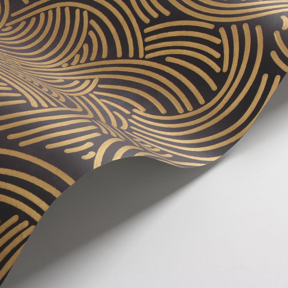 Farrow & Ball Tourbillon  Black / Gold Wallpaper - Product code: BP 4809
