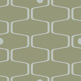 Mini Moderns Net & Ball Olive Wallpaper - Product code: AZDPT038OL