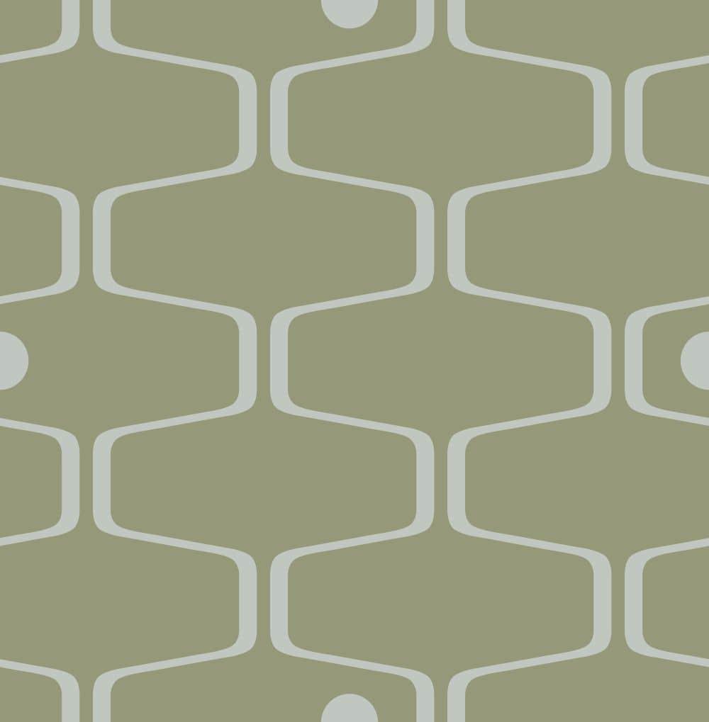 Mini Moderns Net & Ball Olive Wallpaper - Product code: AZDPT038OL