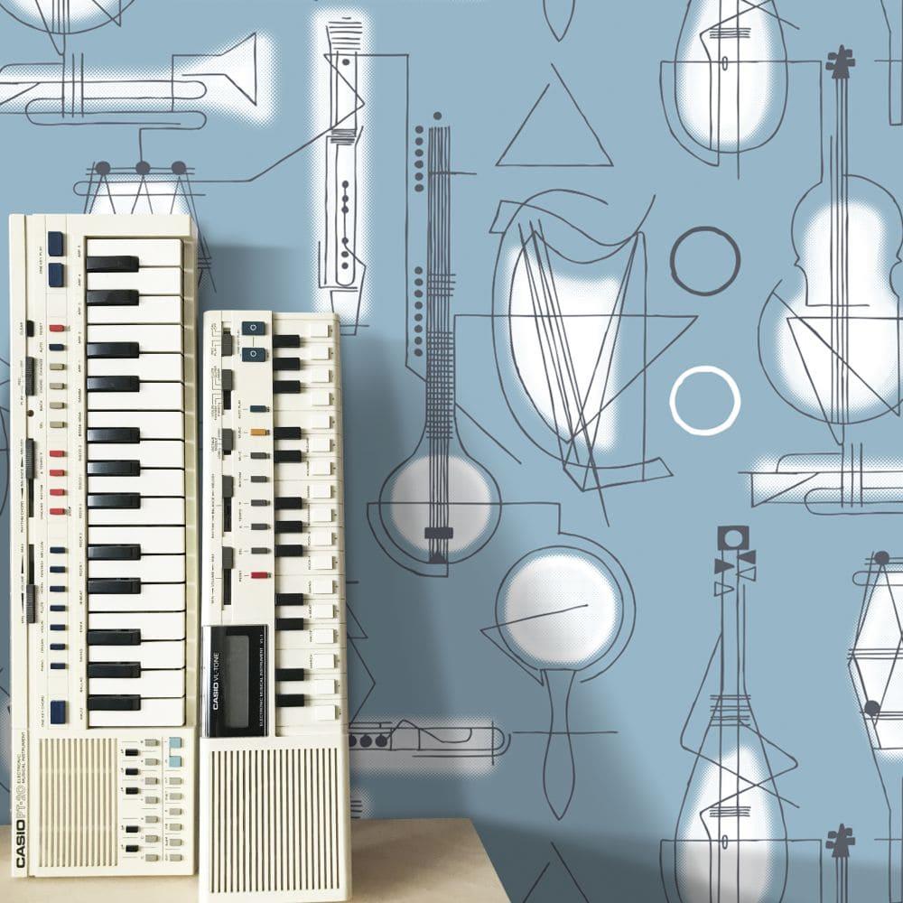 Mini Moderns Concert Chalkhill Blue Wallpaper - Product code: AZDPT039CB