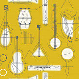 Mini Moderns Concert Mustard Wallpaper - Product code: AZDPT039MU