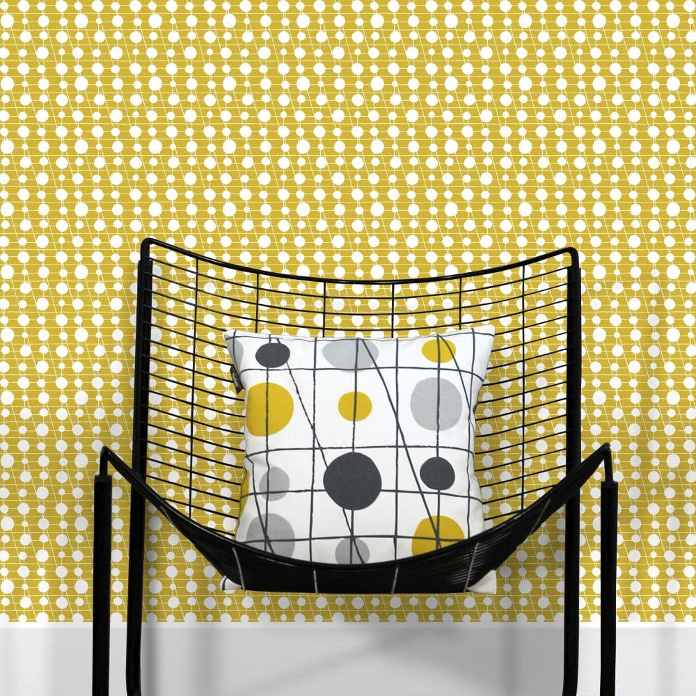 Mini Moderns Pavilion Mustard Wallpaper - Product code: AZDPT041MU