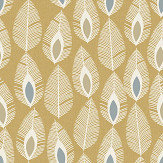 Arthouse Glam Feather Ochre Wallpaper - Product code: 904504