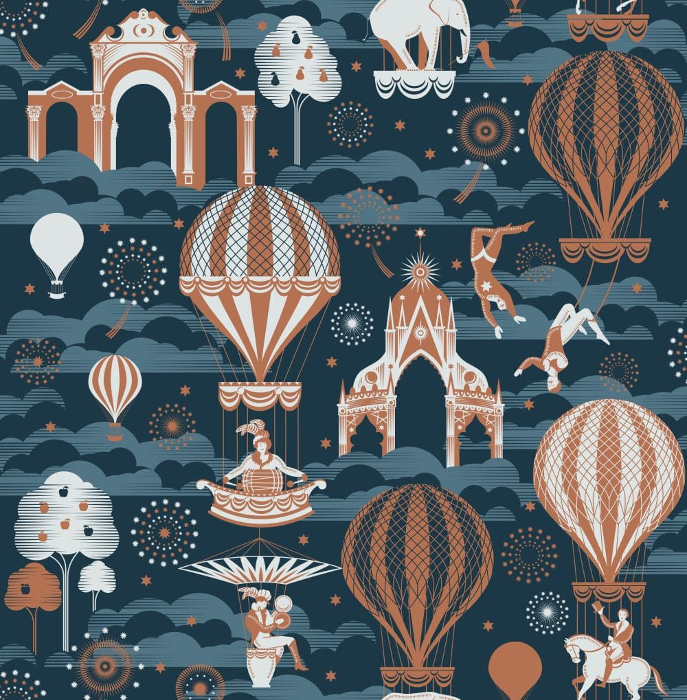 Mini Moderns Pleasure Gardens Midnight / Copper Wallpaper - Product code: AZDPT042MI