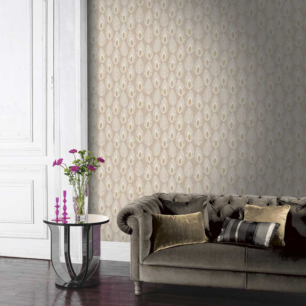 Arthouse Glam Feather Cream Wallpaper - Product code: 904508