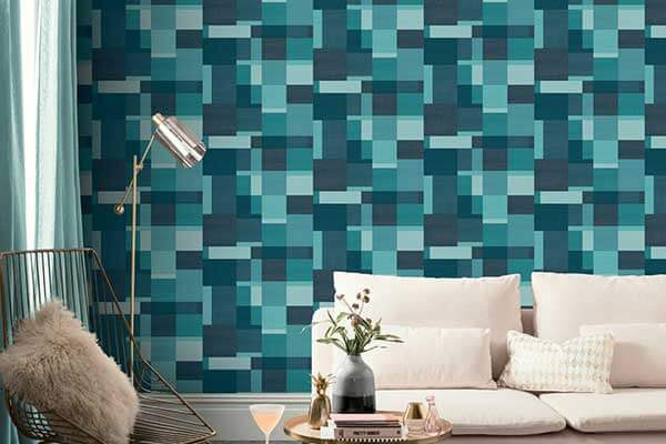 4b522481d Arthouse Cubico Multi Teal Wallpaper - Product code  904507
