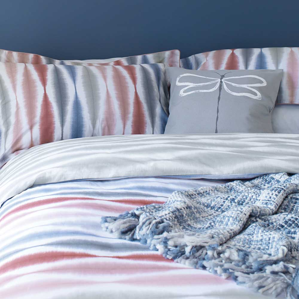 Usuko Knitted Throw - Blue - by Scion