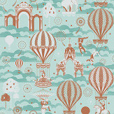 Mini Moderns Pleasure Gardens Pale Verdigris Wallpaper - Product code: AZDPT042PV