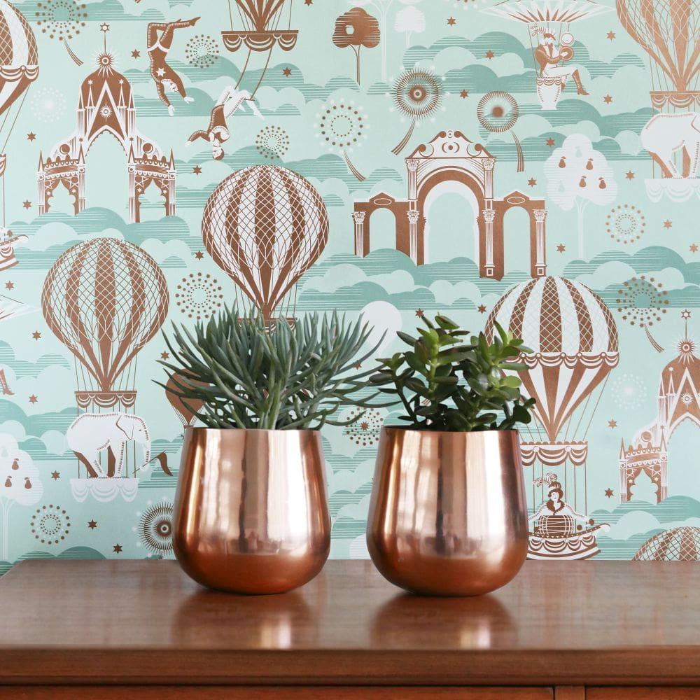 Mini Moderns Pleasure Gardens Pale Verdigris Wallpaper - Product code: AZDPT042PV