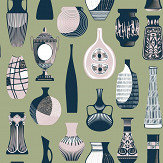Mini Moderns Vessel British Lichen Wallpaper - Product code: AZDPT043BL