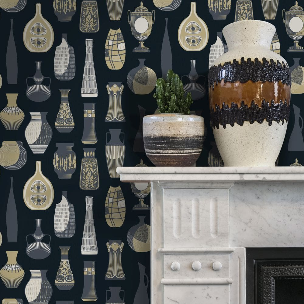 Mini Moderns Vessel Midnight Wallpaper - Product code: AZDPT043MI