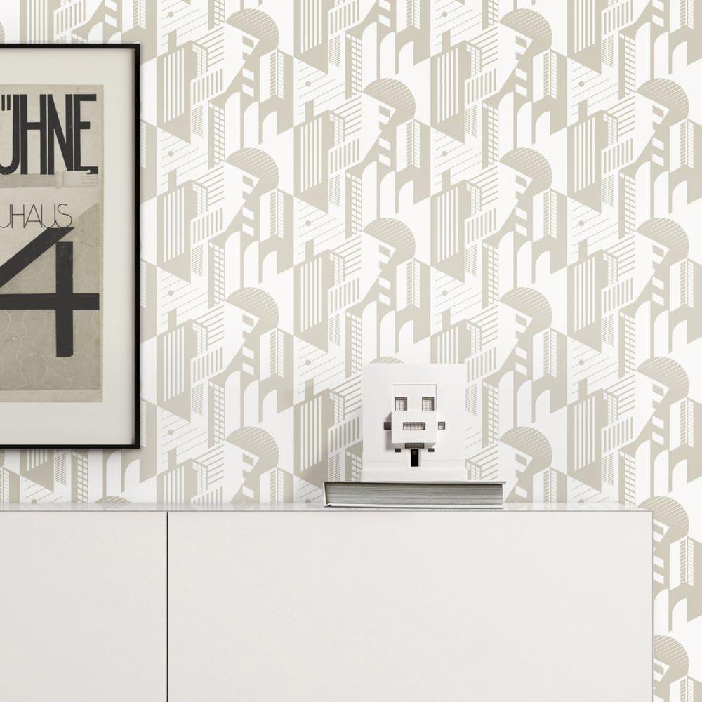 Bauhaus Wallpaper - Stone - by Mini Moderns