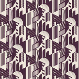 Mini Moderns Bauhaus Winter Plum Wallpaper - Product code: AZDPT044WP