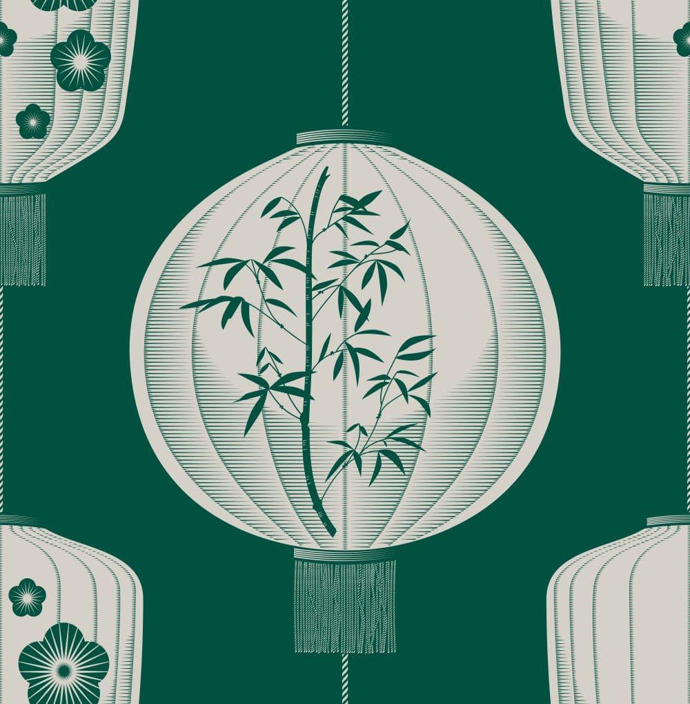 Mini Moderns Lucky Lantern Douglas Fir Wallpaper - Product code: AZDPT045DF