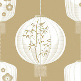Mini Moderns Lucky Lantern Seagrass Wallpaper - Product code: AZDPT045SE