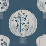 Mini Moderns Lucky Lantern Washed Denim Wallpaper - Product code: AZDPT045WD