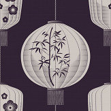 Mini Moderns Lucky Lantern Winter Plum Wallpaper - Product code: AZDPT045WP