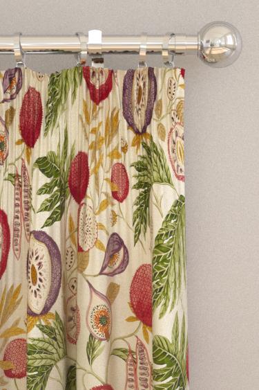 Sanderson Jackfruit Fig / Olive Curtains - Product code: 226562