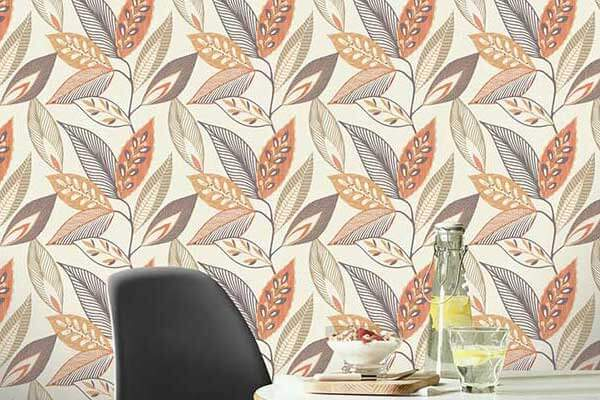 Arthouse Sylvan Leaf Orange Wallpaper - Product code: 904900