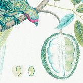 Sanderson Paradesia Botanical Green Fabric - Product code: 226563