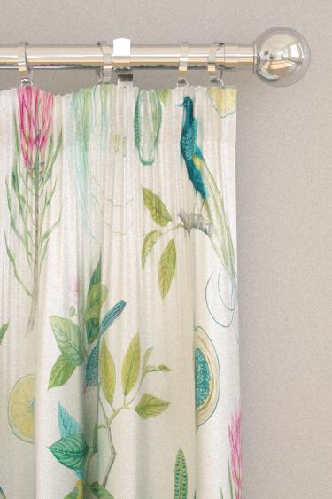 Sanderson Paradesia Botanical Green Curtains - Product code: 226563