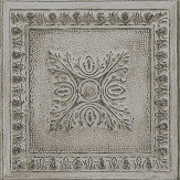 Albany Tin Tile Grey Wallpaper - Product code: 24034
