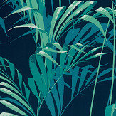 Sanderson Palm House Ink / Teal Fabric - Product code: 226568