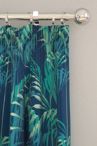 Sanderson Palm House Ink / Teal Curtains - Product code: 226568