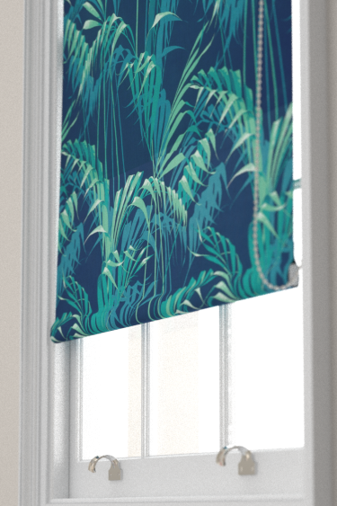 Sanderson Palm House Ink / Teal Blind - Product code: 226568