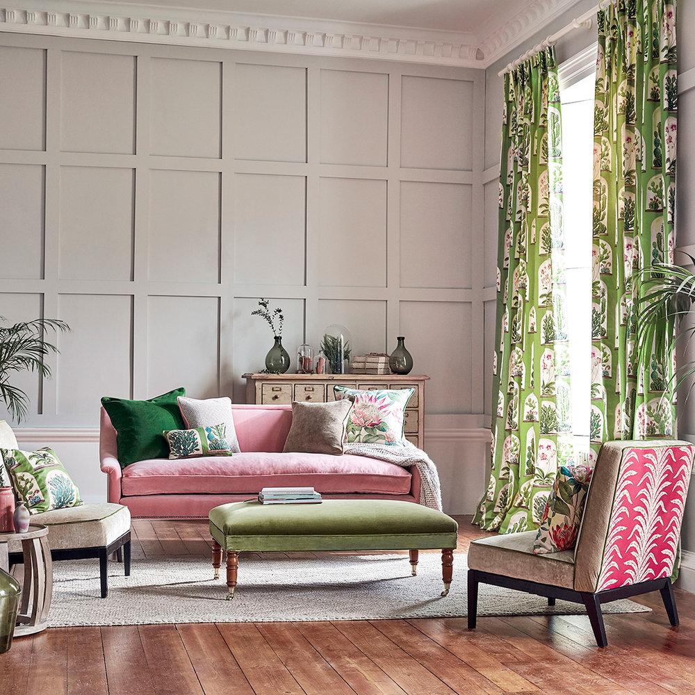 Sanderson Terrariums Botanical Green Fabric - Product code: 226570