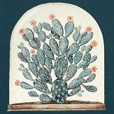 Sanderson Terrariums Ink / Papaya Fabric - Product code: 226572