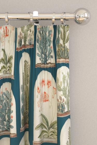 Sanderson Terrariums Ink / Papaya Curtains - Product code: 226572
