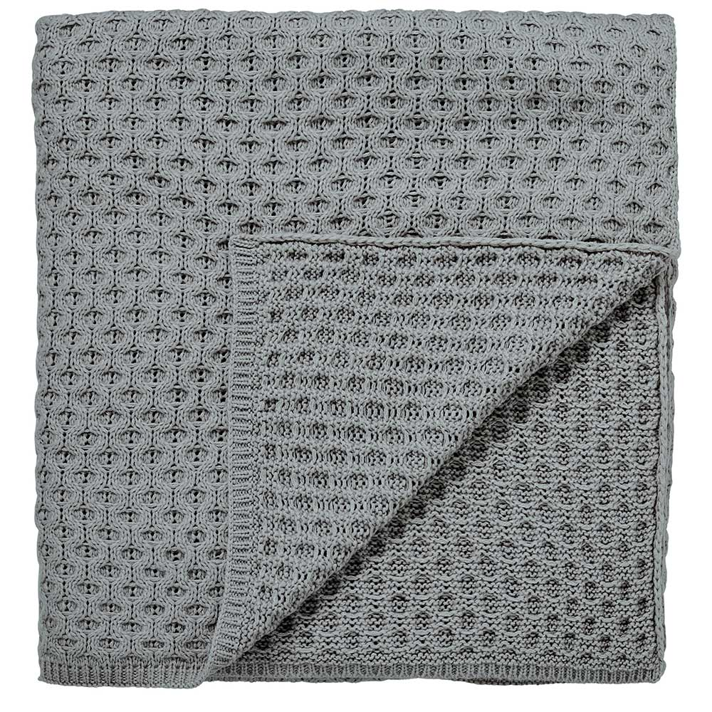 Chiswick Grove Throw - Silver - by Sanderson