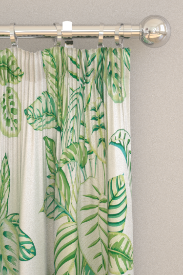 Sanderson Calathea Botanical Green Curtains - Product code: 226575