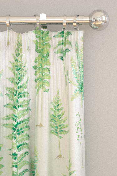 Sanderson Fernery Botanical Green Curtains - Product code: 226579