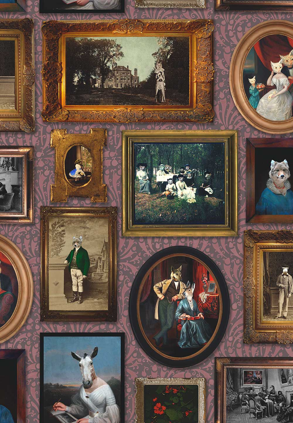 Graduate Collection At the Art Gallery Burgundy Wallpaper - Product code: CC1ARTGALBUR