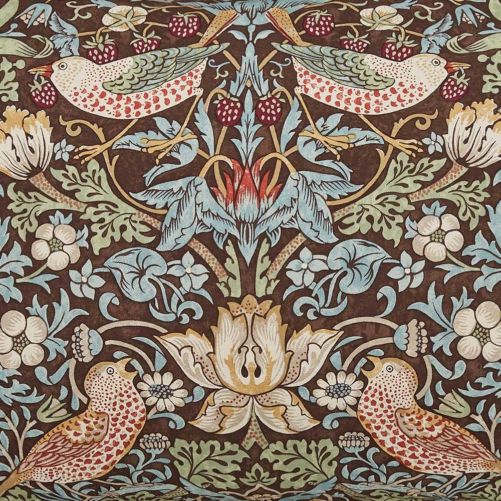 Morris Strawberry Thief Oxford Pillowcase Brown - Product code: DA21021515
