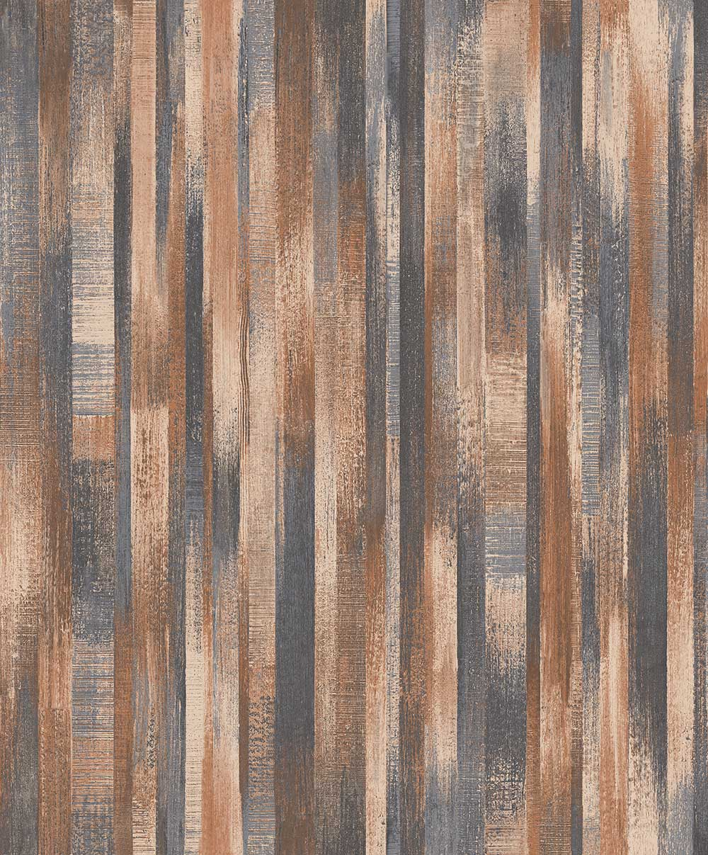 Albany Wood Stripe Copper Wallpaper - Product code: PP3204