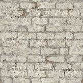 Albany Industrial Brick Off White Wallpaper - Product code: PP3802
