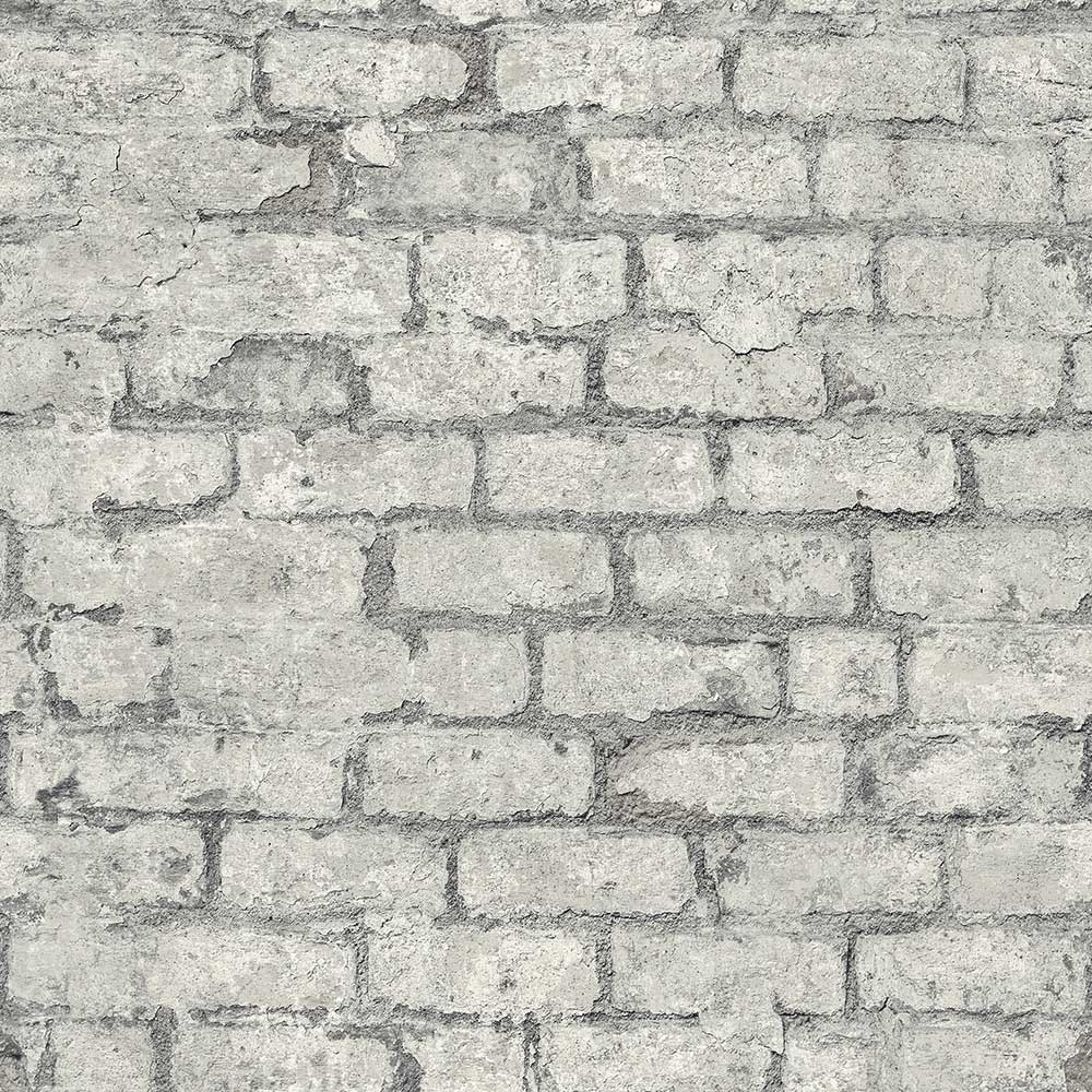Albany Industrial Brick Grey Wallpaper - Product code: PP3803