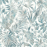 Albany Distressed Jungle Blue Wallpaper - Product code: L68501