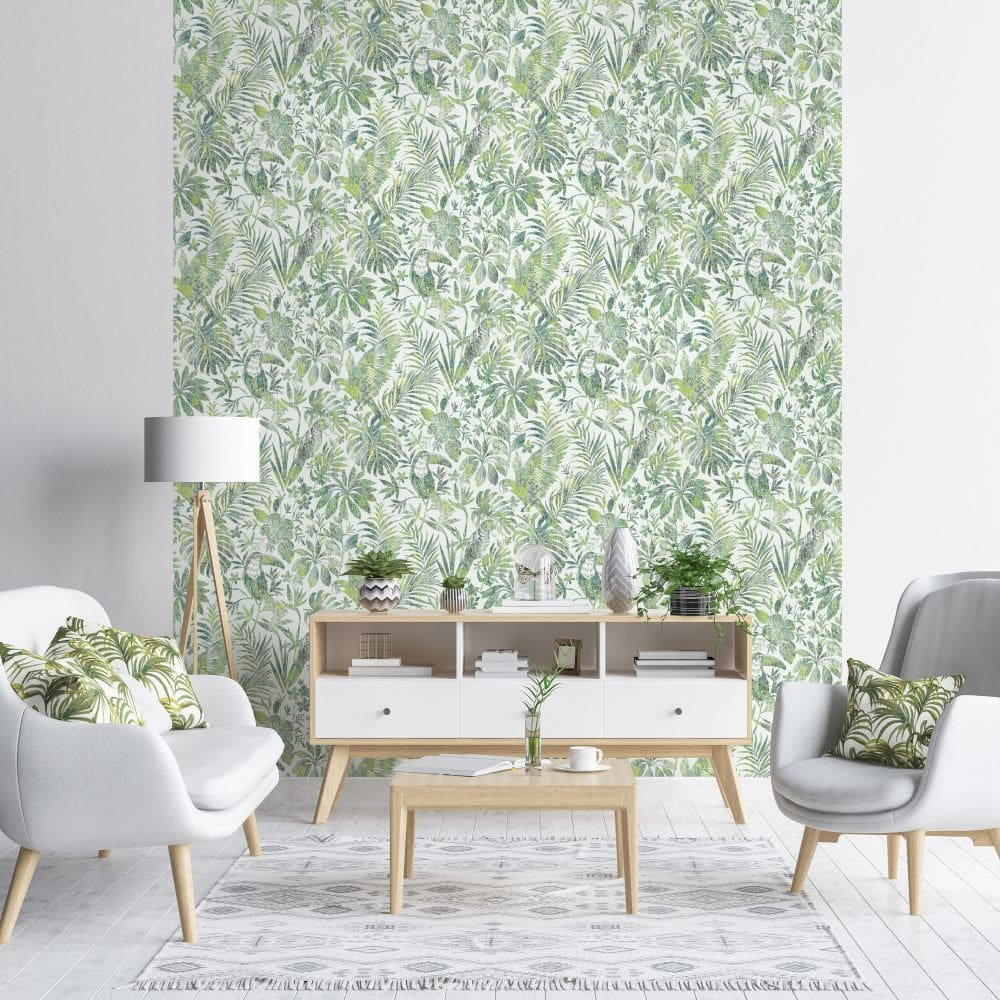 Albany Distressed Jungle Green Wallpaper - Product code: L68504