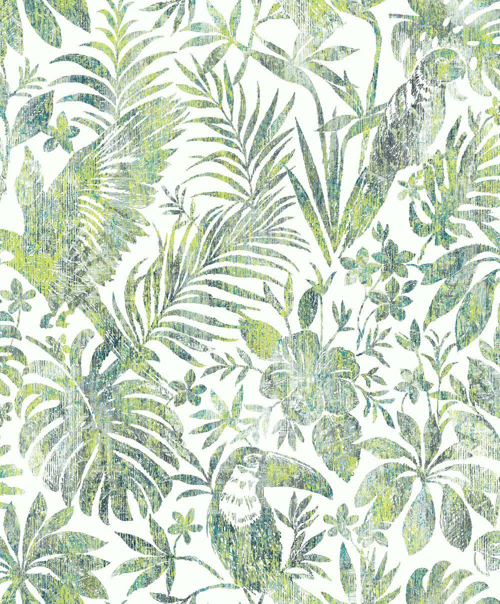 Albany Distressed Jungle Green Wallpaper - Product code: L68504